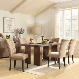 INSPIRE Q Malden Chrome Inset 7-piece Parson Dining Set