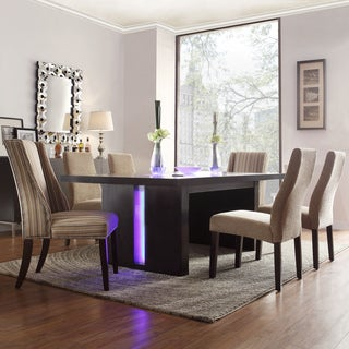 INSPIRE Q Lorin Mocha Brown Modern LED 7-piece Dining Set