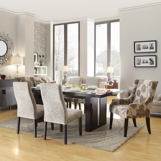 INSPIRE Q Lorin Modern Grey Link LED 7-piece Dining Set