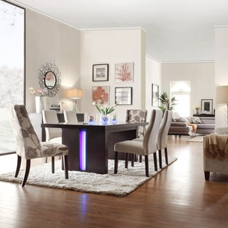 INSPIRE Q Lorin Modern Grey Fabric LED 7-piece Dining Set