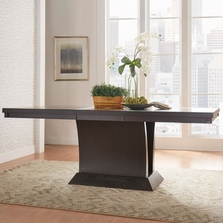 TRIBECCA HOME Charles Espresso Extending Dining Table
