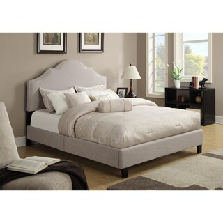 Taupe Queen Size Upholstered Bed