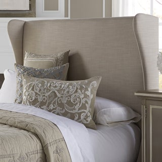 Wingback Cream Queen Size Upholstered Headboard