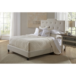 Button Tufted Stone Grey Queen Size Upholstered Bed
