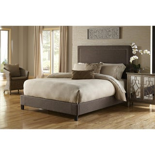 Brown Queen-size Upholstered Bed