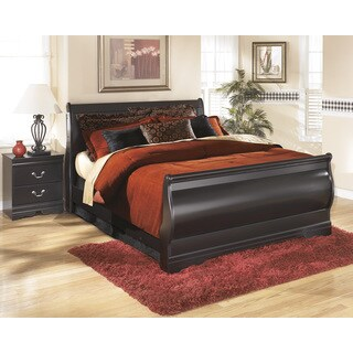 Signature Design by Ashley Huey Vineyard Black Sleigh Bed