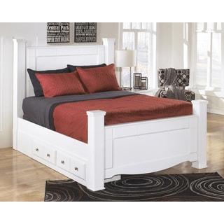 Signature Design by Ashley Weeki White Storage Bed