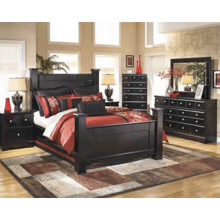 Signature Design by Ashely Shay Almost Black Poster Bed