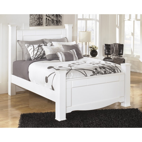 Signature Design By Ashley Weeki White Poster Bed