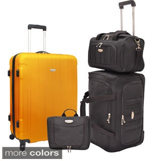 Traveler's Choice Rome 4-piece Hardside & Soft Nested Luggage Set