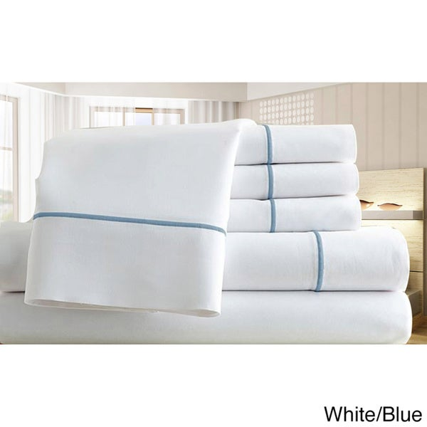 Egyptian Cotton Blend 1000 Thread Count Marrow Stitch 6-piece Sheet Set
