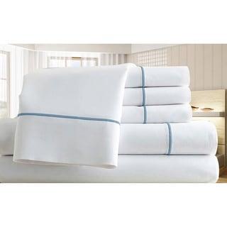 Egyptian Cotton Blend 1000 Thread Count Marrow Stitch 6-piece Sheet Set
