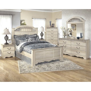 Signature Design by Ashley Catalina Antique White Poster Bed