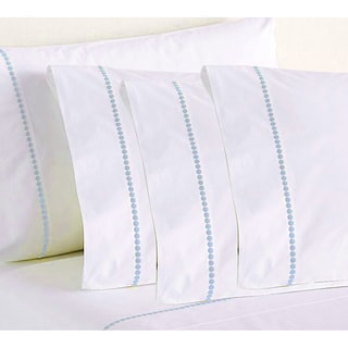 Egyptian Cotton Blend 1000 Thread Count Embroidered 6-piece Sheet Set