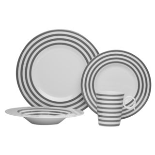 Red Vanilla 'Freshness Mix & Match Lines' Grey 4-piece Place Setting