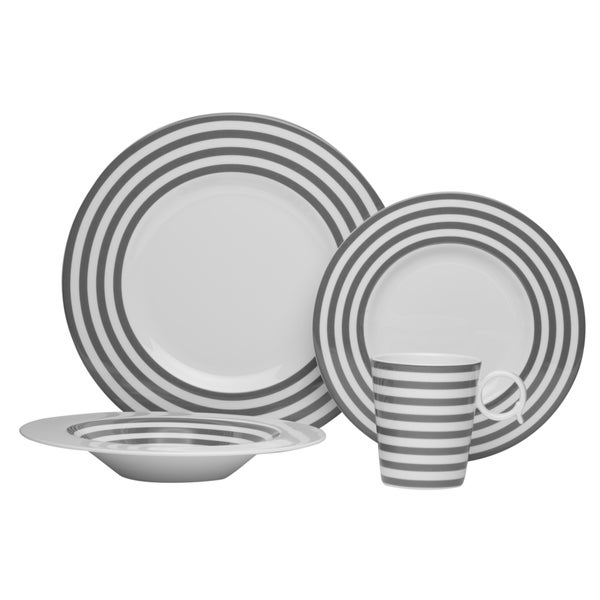 Red Vanilla 'Freshness Mix & Match Lines' Grey 4-piece Place Setting 13820500