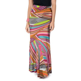 Hailey Jeans Co. Junior's Patterned Fold-over Maxi Skirt