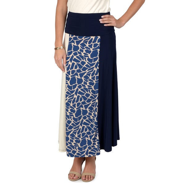 Timeless Comfort by Journee Women's Animal Print A-line Skirt