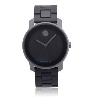 Movado Men's 3600073 Aluminum Caseback 'Bold' Quartz Link Watch