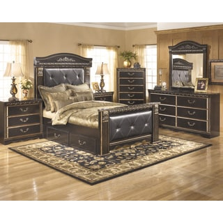 Signature Design by Ashley Coal Creek Dark Brown Storage Poster Bed