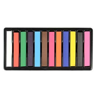 Easy Temporary 12-piece Non-toxic Hair Pastels Chalk Kit