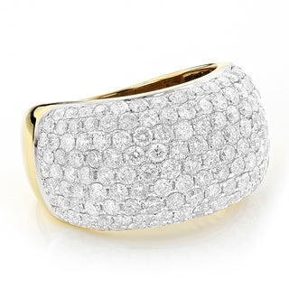 Luxurman 14k Yellow Gold 4 2/5ct Pave-set Round-cut White Diamond (G-H, VS1-VS2)