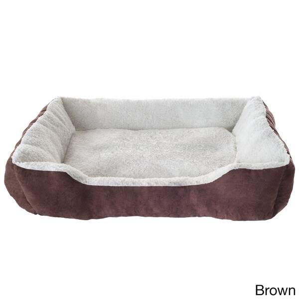 Small Snuggly Soft Rectangle Pet Bed