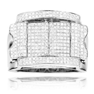Sterling Silver 1 3/5ct TDW White Diamond High Polished Ring (H-I, SI1-SI2)