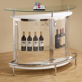 Contemporary White Bar Unit