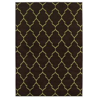 Brown Trellis Indoor/outdoor Area Rug (7'8 x 9'10)