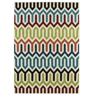 Multicolored Indoor/Outdoor Area Rug (7'8 x 9'10)