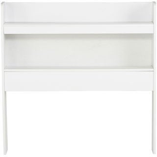 Solid White 2-Shelf Bookcase Headboard
