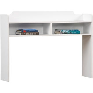 Solid White Youth Desk Hutch