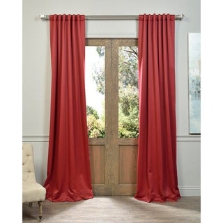 Red Pocket and Back Tab Blackout Curtain Panel Pair