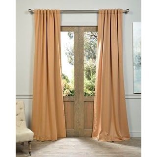 Tan Rod Pocket and Back Tab Blackout Curtain Panel Pair