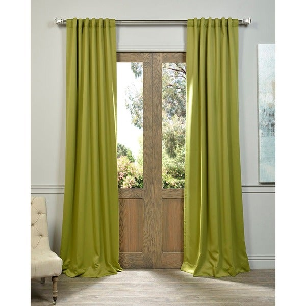 Green Rod Pocket and Back Tab Blackout Curtain Panel Pair