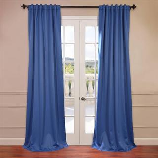 Royal Blue Rod Pocket/Back Tab Blackout Curtain Panel Pair
