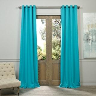 EFF Aqua Grommet Top Blackout Curtain Panel Pair