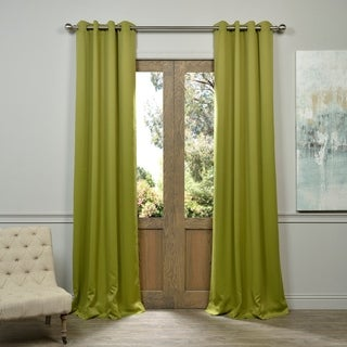 Green Grommet Top Blackout Curtain Panel Pair