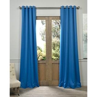 Royal Blue Grommet Top Blackout Curtain Panel Pair