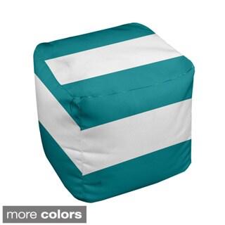 13 x 13-inch Bold Block Stripe Decorative Pouf