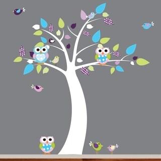 Children's Owl Tree Girl's Nursery Wall Decal