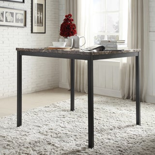 Darcy Faux Marble Black Metal Counter Height Dining Table