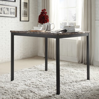 INSPIRE Q Darcy Faux Marble Black Metal Counter Height Dining Table