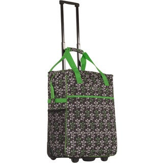 Calpak 'Big Eazy' Green Branch 20-inch Washable Rolling Shopping Tote Bag