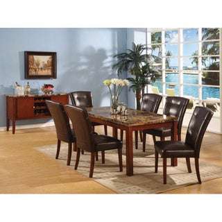 Walnut Finish Button-tufted Chairs (Set of 2)
