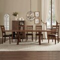TRIBECCA HOME Inverness Warm Oak Turnbuckle Extending Dining Table