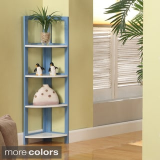 Four-tiered Foldable Corner Bookcase
