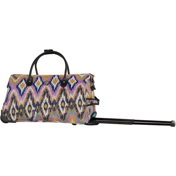 CalPak 'Soho' Pink Ikat 21-inch Carry-on Rolling Upright Duffel Bag
