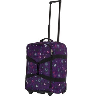 Calpak 'Rover' Purple Floral 20-inch Washable Rolling Carry-On Bag